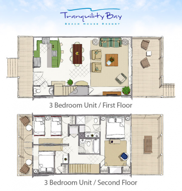 Tranquility Bay-Floor plan 3 bedroom