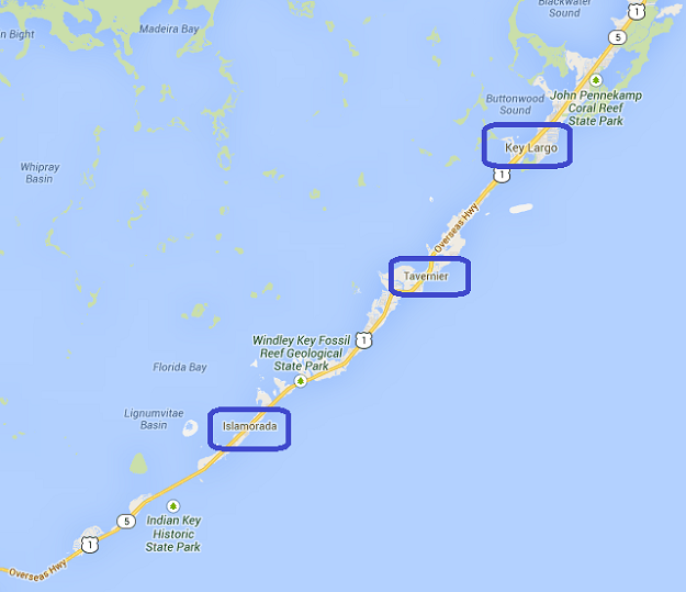 Map Of The Keys Florida.Upper Keys Fl Map Key Largo Islamorada Fl Keys Real Estate